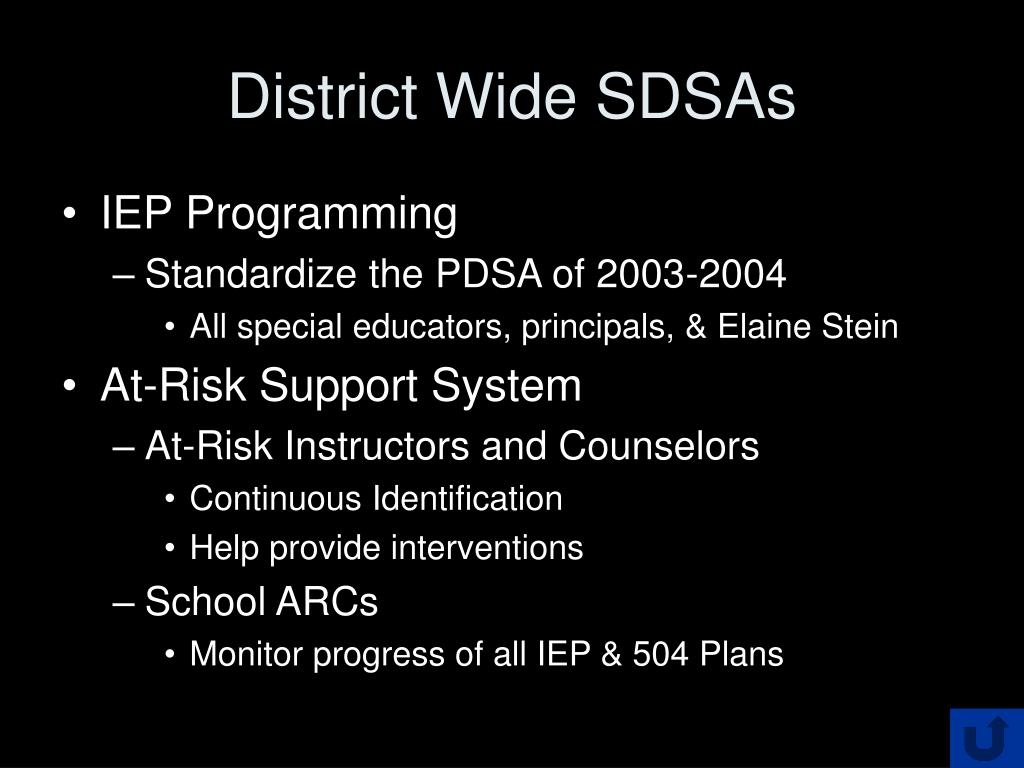 District Wide SDSAs