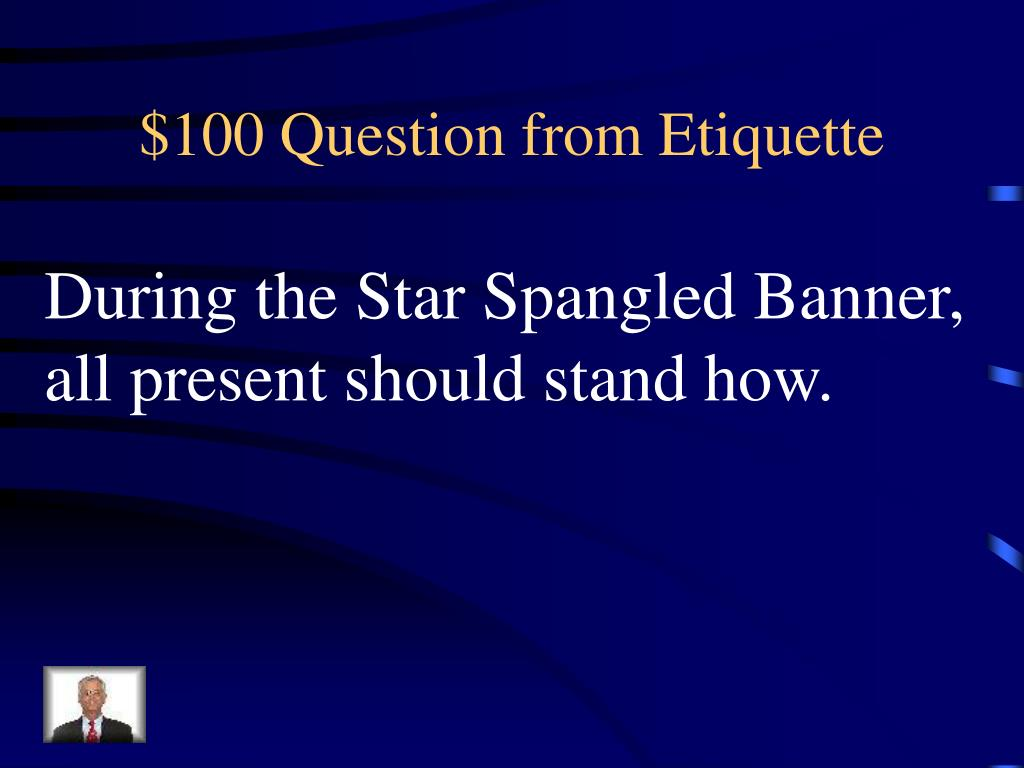 $100 Question from Etiquette