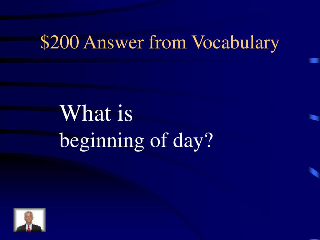 $200 Answer from Vocabulary