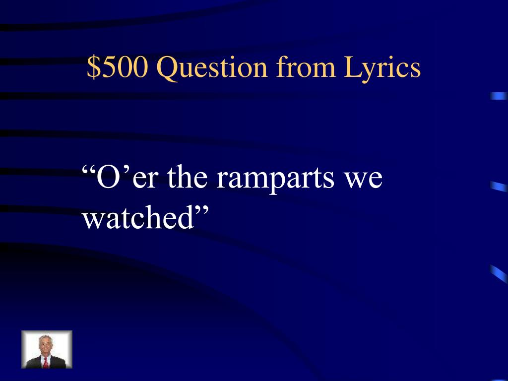$500 Question from Lyrics