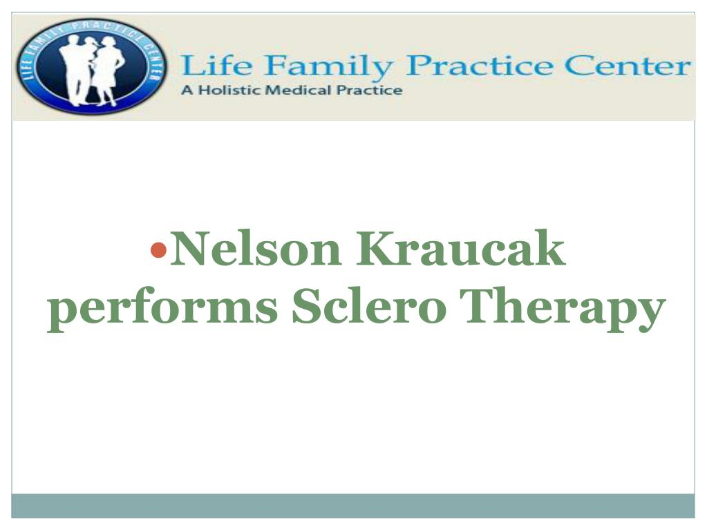 Nelson Kraucak performs Sclero Therapy