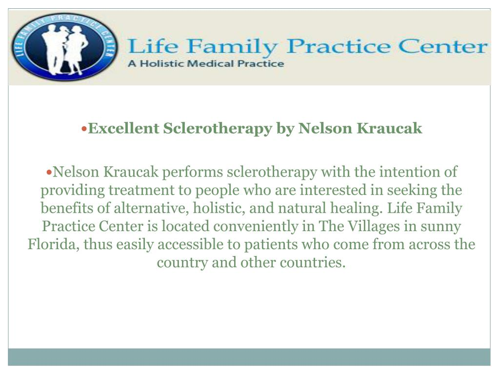Excellent Sclerotherapy by Nelson Kraucak