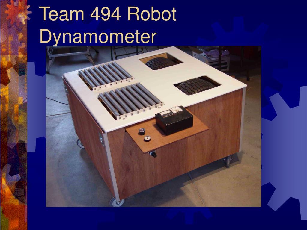 Team 494 Robot Dynamometer