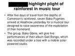pygmies highlight plight of rainforest in music tour