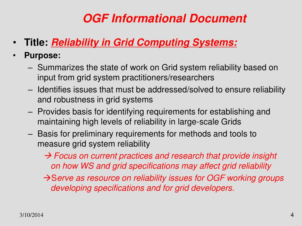 OGF Informational Document