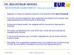 iii registrar model registrar agreement advance payment