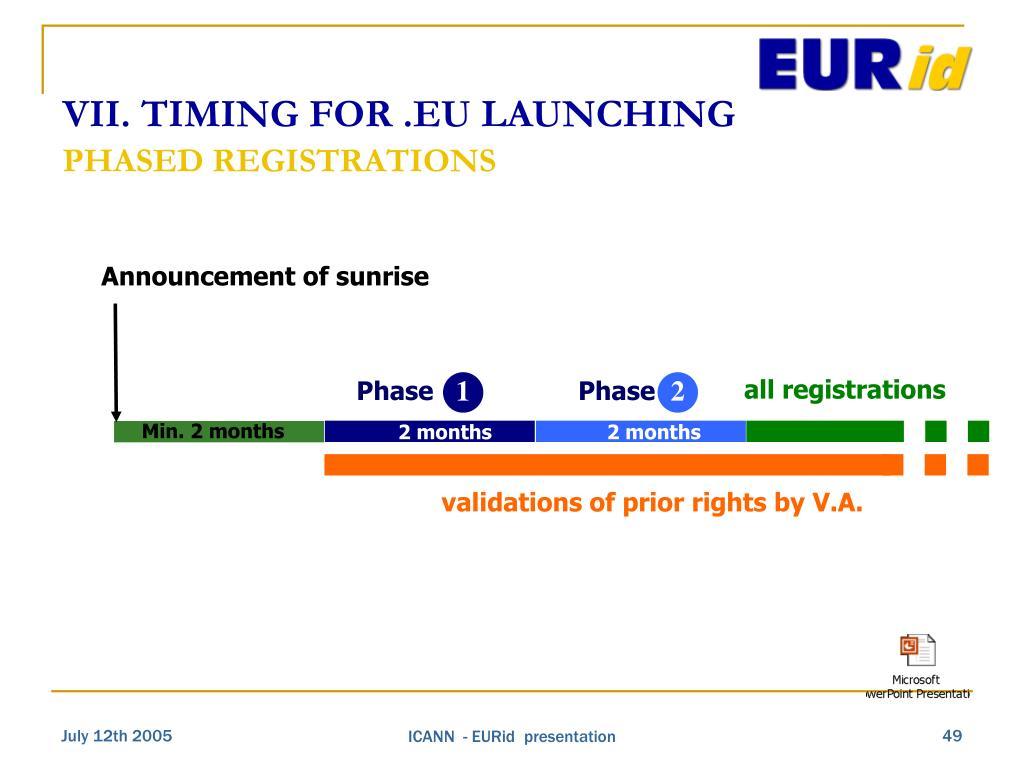 Announcement of sunrise