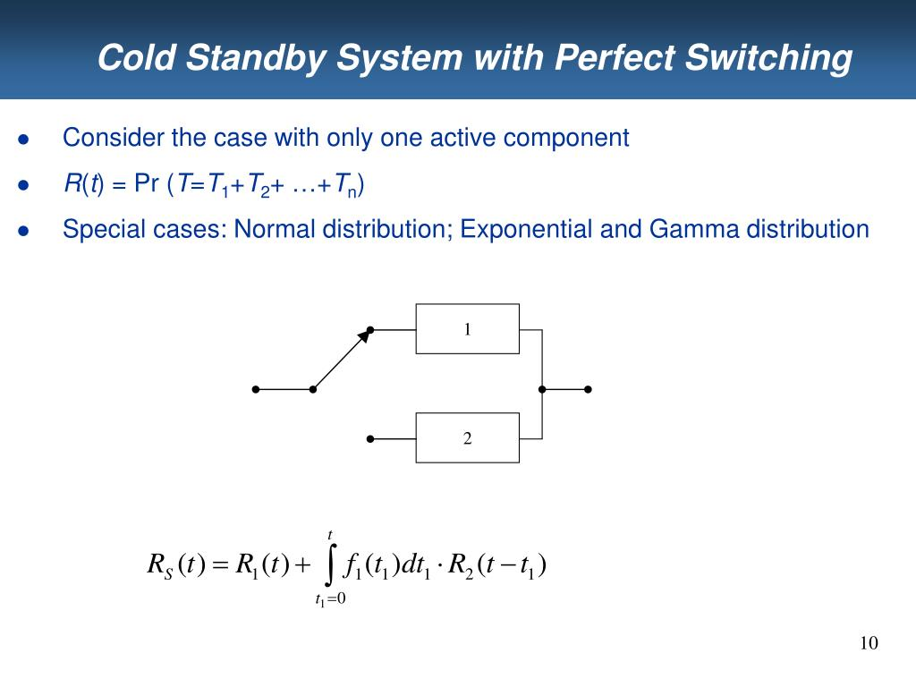 Cold Standby System with Perfect Switching