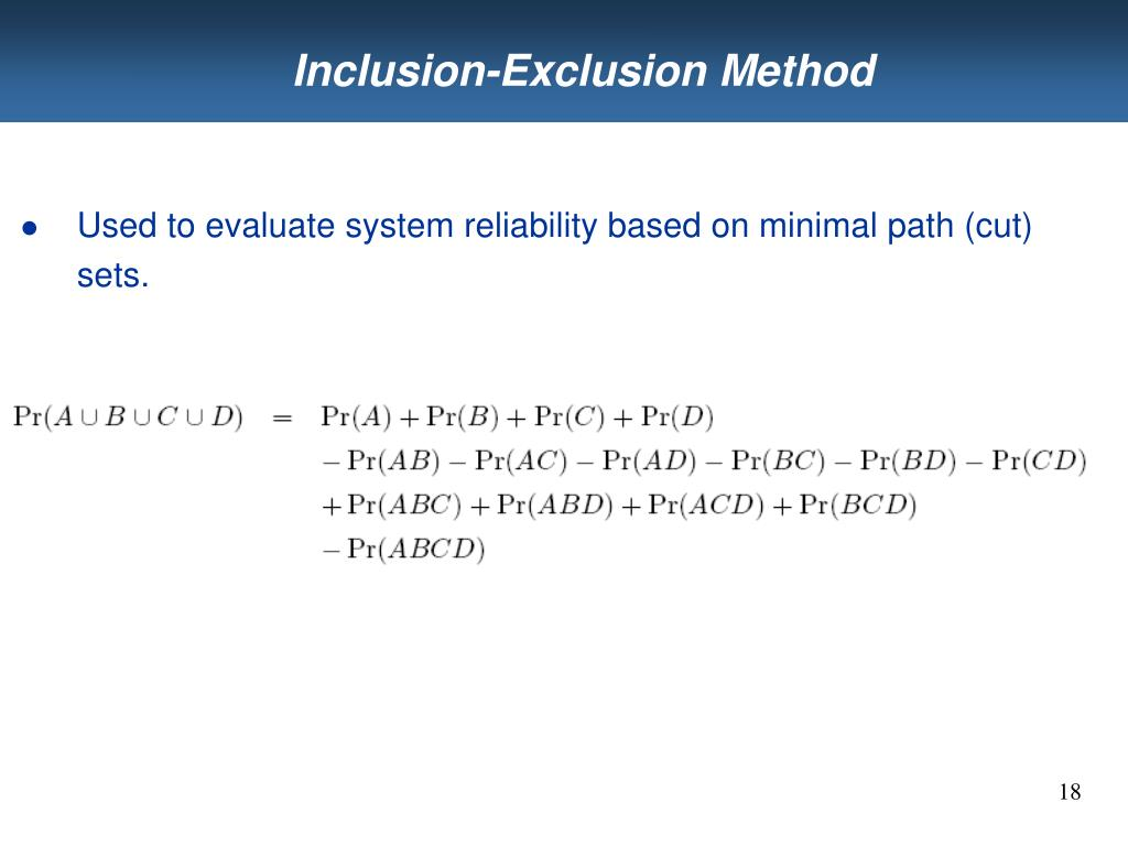 Inclusion-Exclusion Method