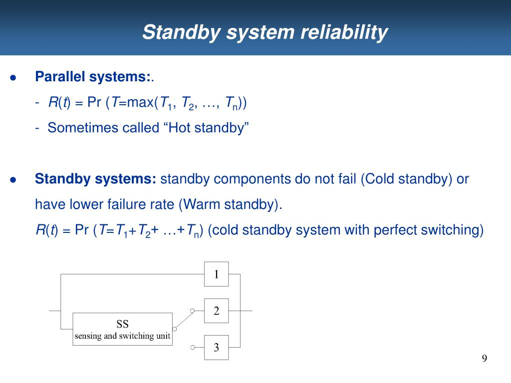 Standby system reliability