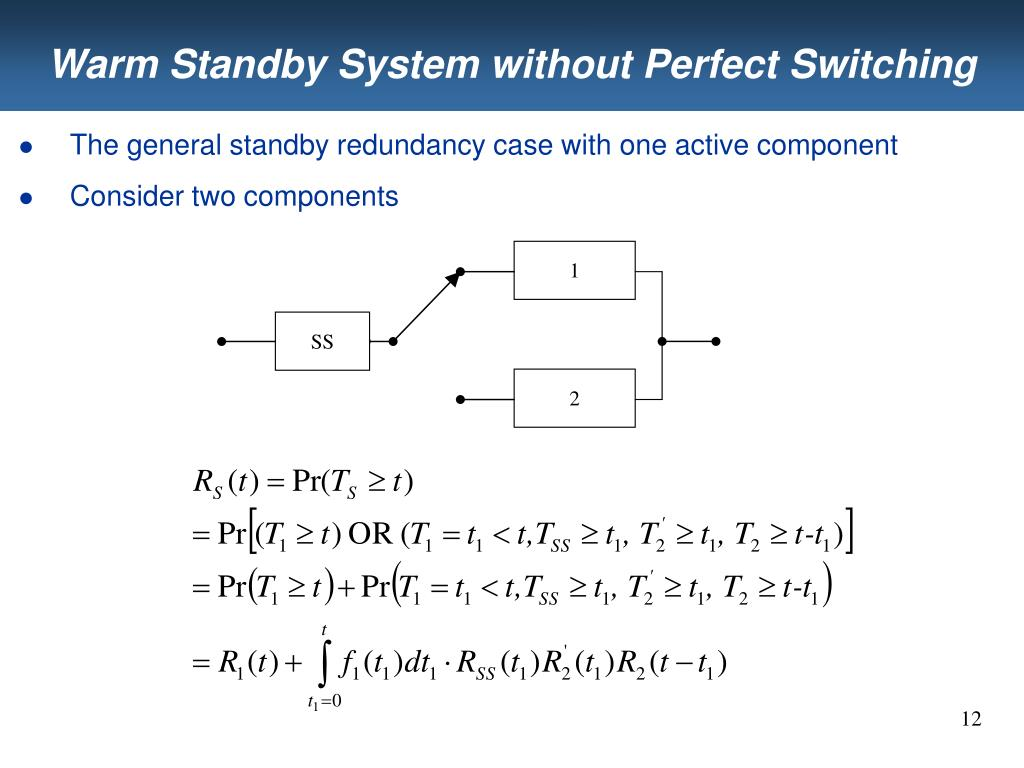 Warm Standby System without Perfect Switching