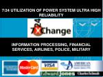 7 24 utilization of power system ultra high reliability