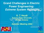 grand challenges in electric power engineering extreme system reliability