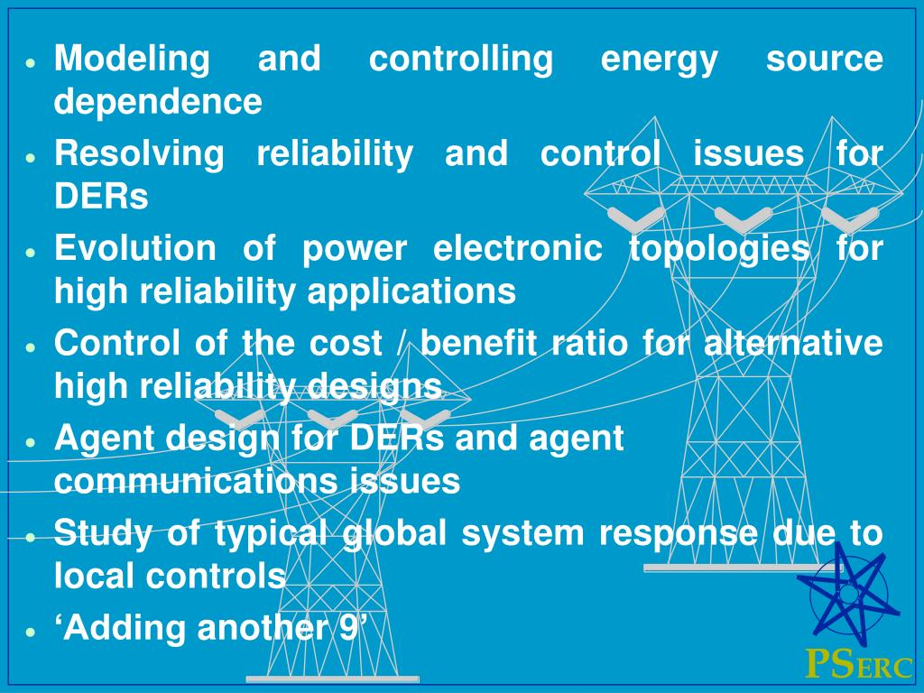 Modeling and controlling energy source dependence