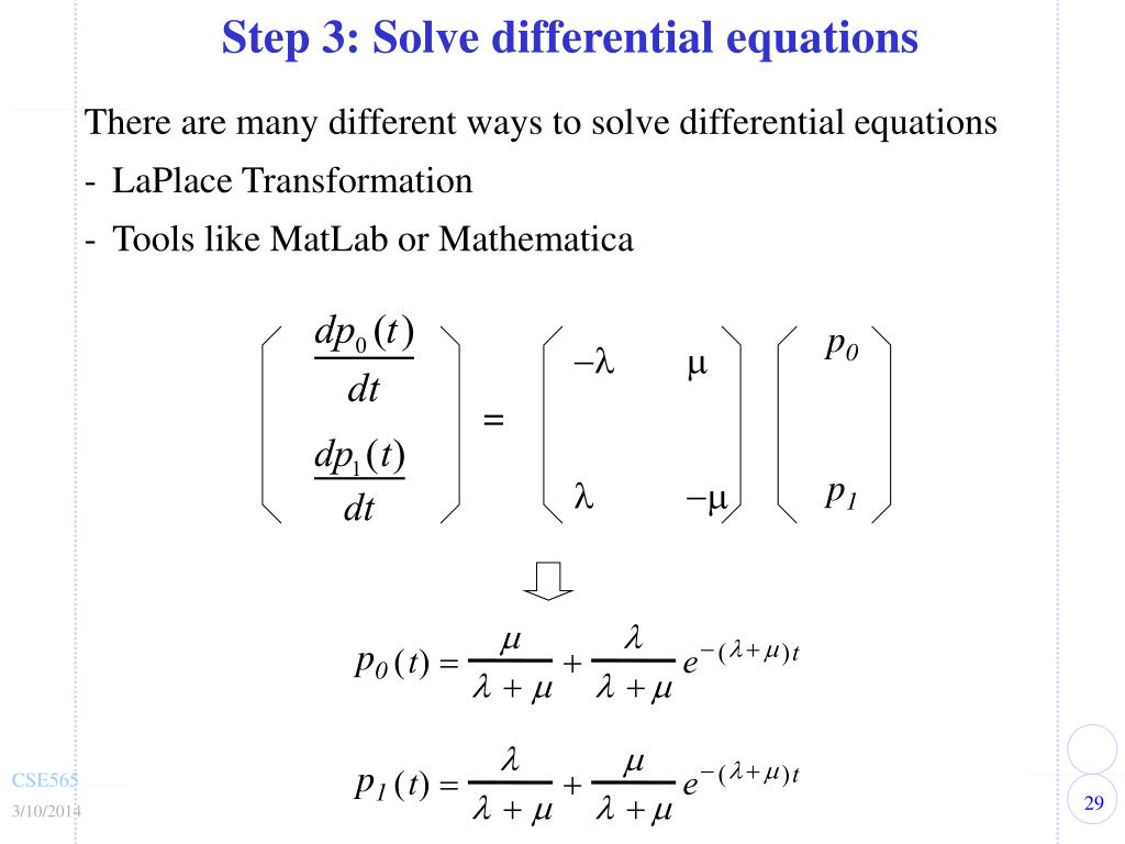 Step 3: Solve differential equations