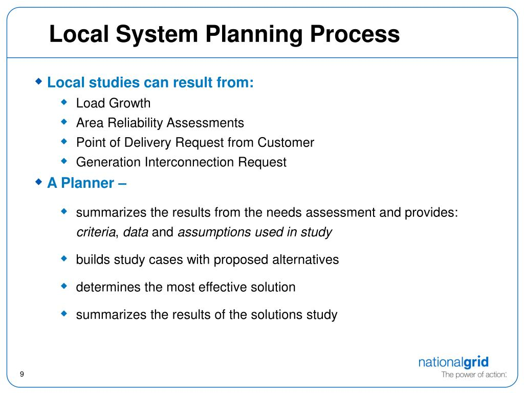 Local System Planning Process