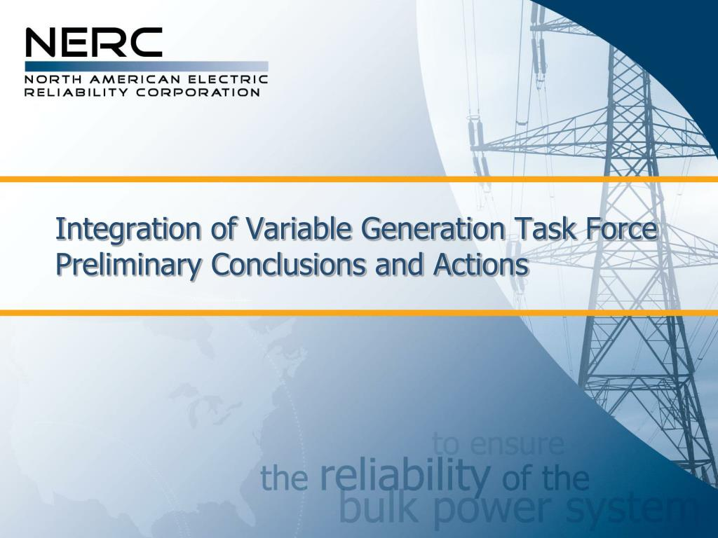 Integration of Variable Generation Task Force
