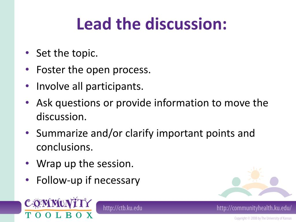 Lead the discussion: