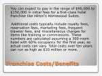 franchise costs benefits