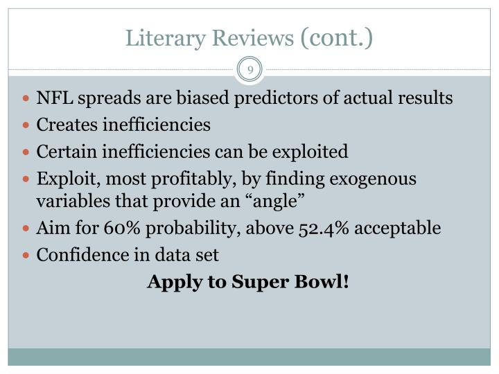 Literary Reviews