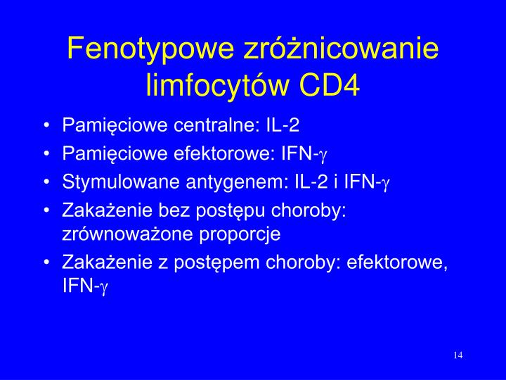 Fenotypowe zróżnicowanie limfocytów CD4