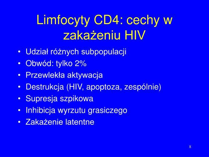 Limfocyty CD4: cechy w zakażeniu HIV