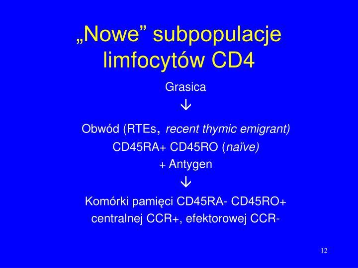 """""""Nowe"""" subpopulacje limfocytów CD4"""