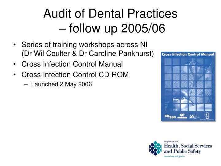 Audit of Dental Practices