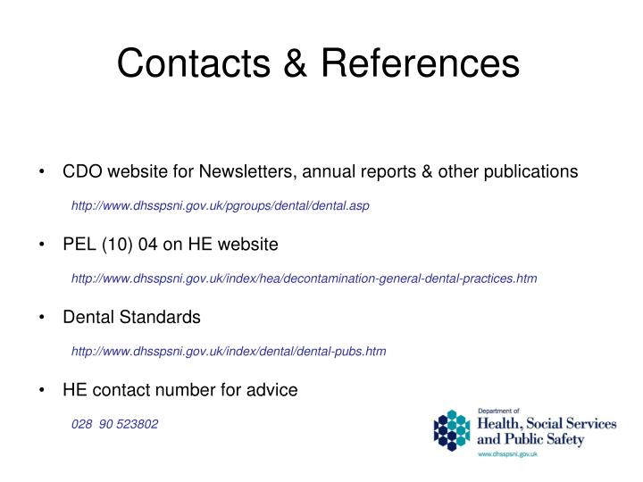 Contacts & References