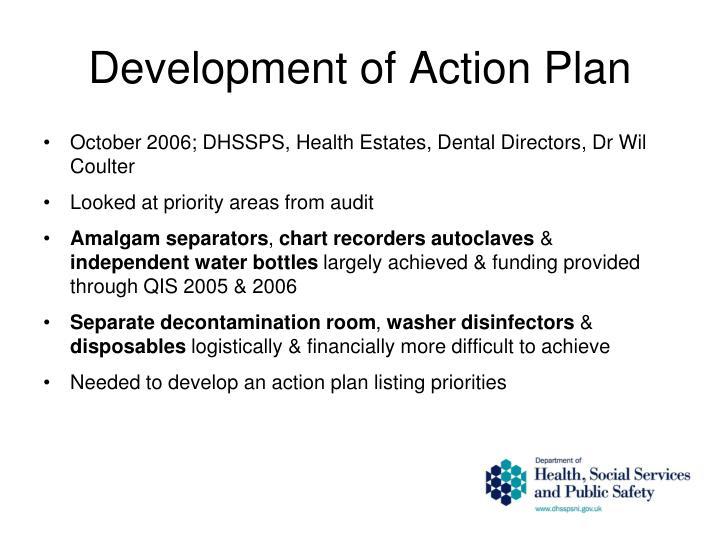 Development of Action Plan