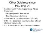 other guidance since pel 10 04