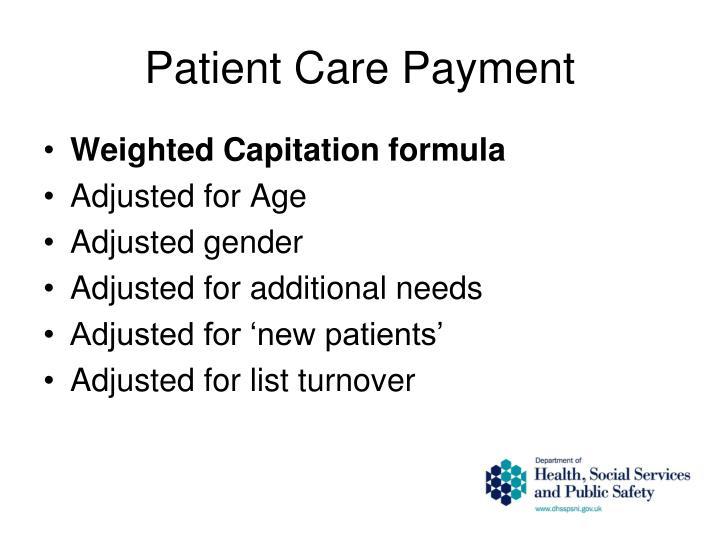 Patient Care Payment