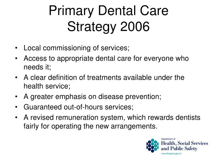 Primary Dental Care