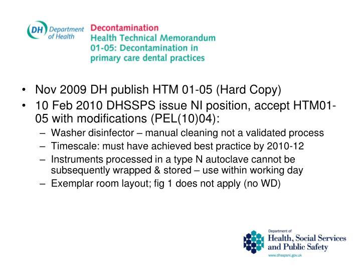 Nov 2009 DH publish HTM 01-05 (Hard Copy)