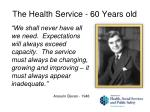 the health service 60 years old