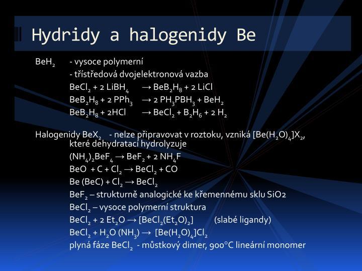 Hydridy a halogenidy