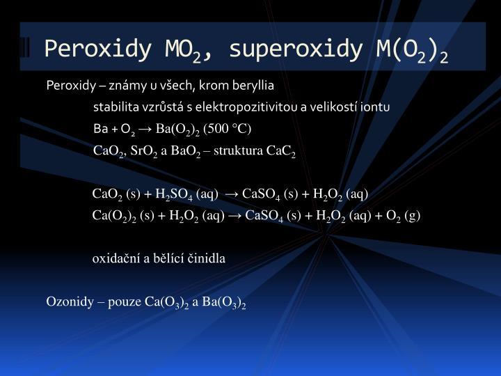 Peroxidy MO