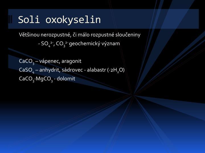Soli oxokyselin