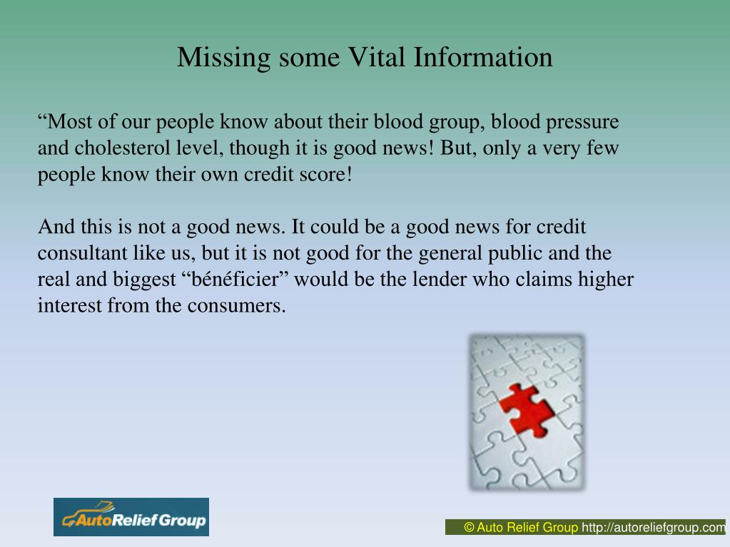 """""""Most of our people know about their blood group, blood pressure and cholesterol level, though it is good news! But, only a very few people know their own credit score!"""