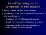 animal psychology and the development of functionalism