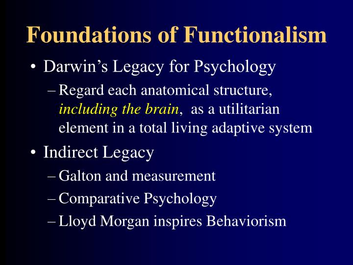 Foundations of Functionalism