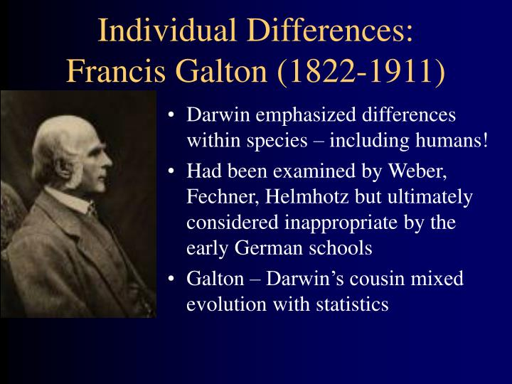 Individual Differences: Francis Galton (1822-1911)