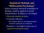 statistical methods and differential psychology