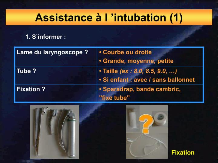 Assistance à l 'intubation (1)