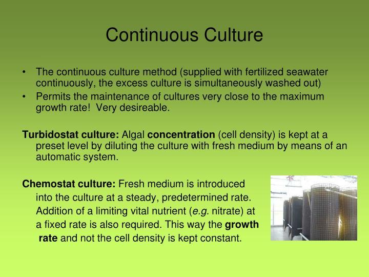 Continuous Culture