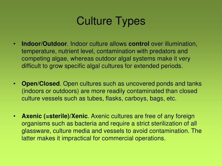 Culture Types