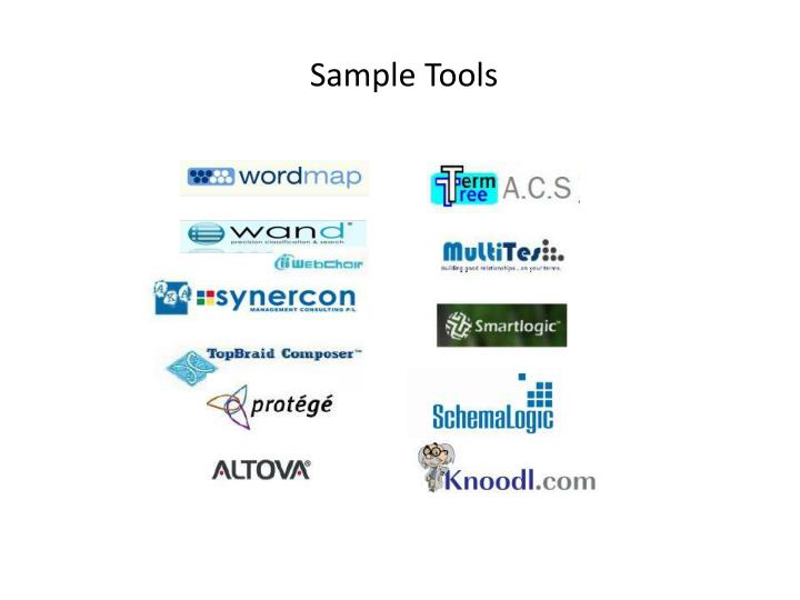 Sample Tools