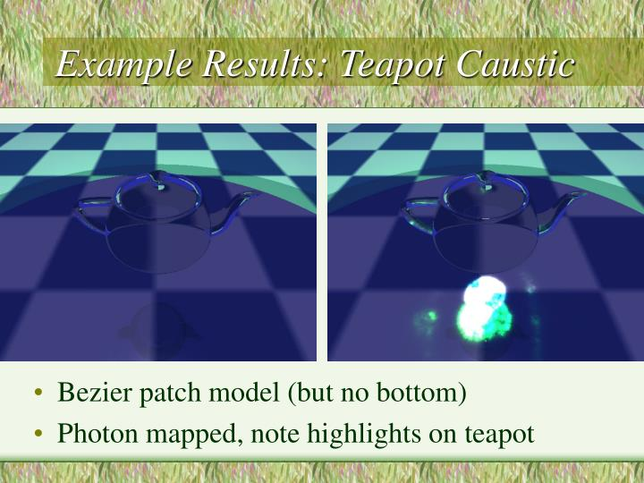 Example Results: Teapot Caustic