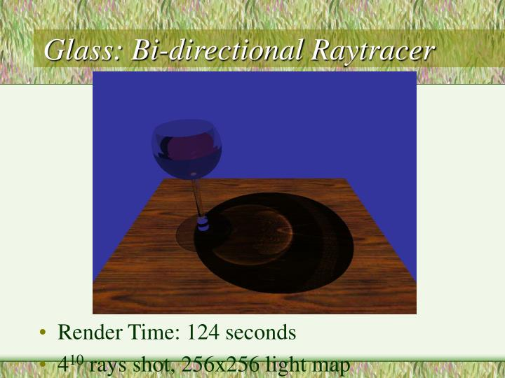 Glass: Bi-directional Raytracer