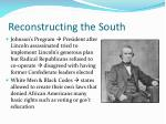 reconstructing the south